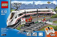 LegoCity Скоростной пассажирский поезд 60051 LEGO City Trains High-speed Passenger Train