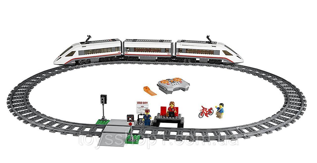 Конструктор lego city trains скоростной пассажирский поезд
