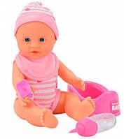 Кукла-пупс девочка с аксессуарами, 30 см, New Born Baby