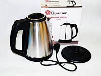 Качественный электрочайник Domotec DT-8001 1500W 1.8L. Практичный дизайн. Новая модель. Купить. Код: КДН1974