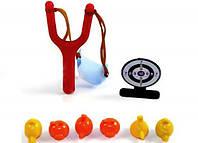 Рогатка, мишень+6 шт. Angry Birds