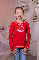 "Детская трикотажная кофта для девочек ""Hello Kitty"" красная"