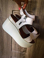 Белые босоножки молния женские из натуральной кожи. Производство Турция, отличное качество.