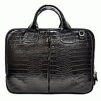 Портфель Desisan 052-11black кожаный Черный