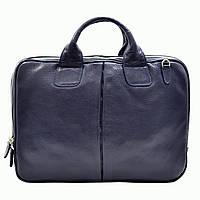 Портфель Desisan 052-315blue кожаный Синий