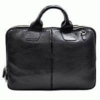 Портфель Desisan 052-011black кожаный Черный