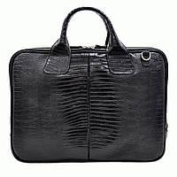 Портфель Desisan 052-143black кожаный Черный