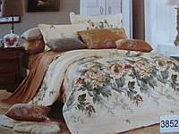 Сатиновое постельное белье евро ELWAY 3852
