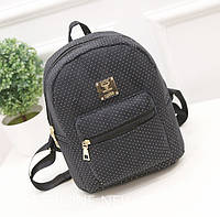 Модный женский рюкзак мини черный