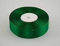 Лента атлас 4 см, 33 м, № 19 зеленая