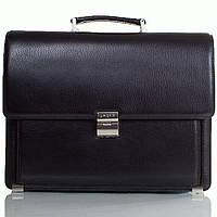 Портфель KARYA 0144-45black кожаный Черный
