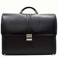Портфель Desisan 317-011black кожаный Черный