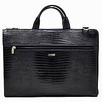 Портфель Desisan 1349-143black кожаный Черный