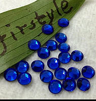 Стразы для дизайна ногтей синие (стекло) 100 шт