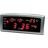 Часы Caixing CX 868, настольные часы, электронный будильник, электронные LED часы с календарем, часы-будильник