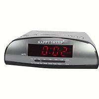 Настольные Часы Радио Kenko KK 9905 AM-FM, часы FM, Часы сетевые с ФМ радио, Говорящие часы, Часы будильник,