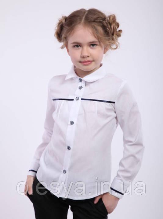 Блуза школьная для девочки натуральный хлопок Размер 128