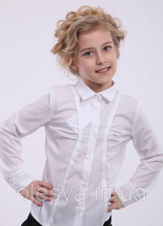 Блуза школьная для девочки из хлопка Размеры 122- 152