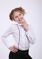 Блуза школьная на девочку Размеры 128 140 146