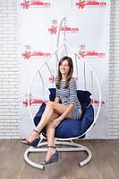 Купити крісло кокон кулю в стилі лофт на стійці