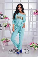 Женский спортивный костюм в разных цветах с пайетками. Ткань: трикотаж-вискоза. Размер: 42-48.