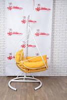 Підвісне крісло качалка лофт дизайн в итерьере