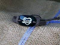 Кожаный браслет  LOVE на руку, ручная работа