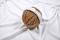 Трикотажная повязка Косичка, белая 42-48