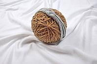 Трикотажная повязка Косичка, серая 42-48