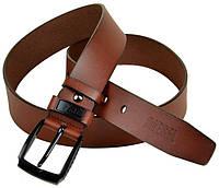 Мужской коричневый ремень из натуральной кожи Diesel ДхШ: 130х4 см 402372 brown
