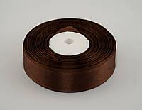 Лента атлас 5 см, 33 м, № 32 темно коричневая