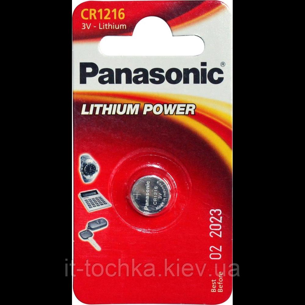 Батарейка panasonic cr1216 1 шт (cr-1216el/1b)