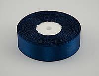 Лента атлас 5 см, 33 м, № 38 темно синяя