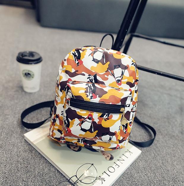 82fbdcf10387 Маленький женский рюкзак с пингвинами - Интернет-магазин