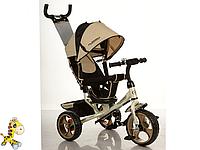 Детский трехколесный велосипед M 3113-9, EVA колёса, золотой KK
