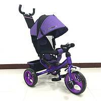 Детский трехколесный велосипед M 3113-8, EVA колёса, фиолетовый KK
