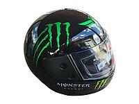 Мотошлем Monster Energy Зелёный Глянец
