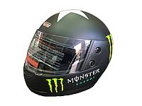 Мотошлем Monster Energy со звездой Матовый
