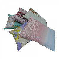 Подушка из гречневой шелухи, ткань Голд Лотос (40х30 см)