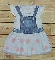 """Детское платье с вышивкой """"Розовые цветы"""" Kitikate"""