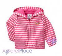 Gymboree Куртка-ветровка на девочку в розовую полоску