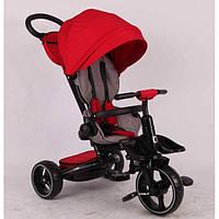Велосипед трехколесный детский с ручкой Stokke Modi Crosser T 600 6 в 1 красный