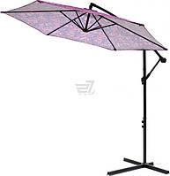 Пляжный и садовый наклонный зонтик от солнца диаметр 2,7 метра фиолетовый