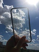 """Силиконовый чехол со стразами SWAROVSKI """"Devia"""" Meteor серый для iPhone 7/8"""