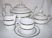 """Фарфоровый чайный сервиз """"Selina Belvedere Platin"""" 15пр (4286)*"""