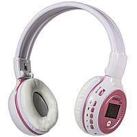 Bluetooth гарнитура ZEALOT B570 белая с экраном для смартфона плеера музыки mp3 беспроводная поддержка microSD