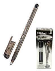 Ручка шариковая, черная My-Pen, мп