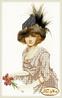 Схема  для вышивки бисером Дама в шляпе