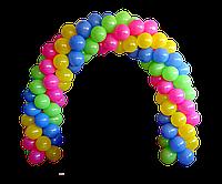 Арка из воздушных шаров ассорти.