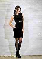 Стильное черное платье от 42 р. до 54 р. (27)1323